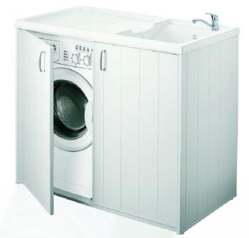 Mobile copri lavatrice per esterno con lavello vasca - Lavatrice per esterno ...