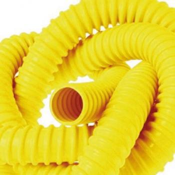 Guaina gialla autoestinguente spiralata in pvc per tubazioni gas guaina gialla per tubo gas - Tubo gas esterno ...